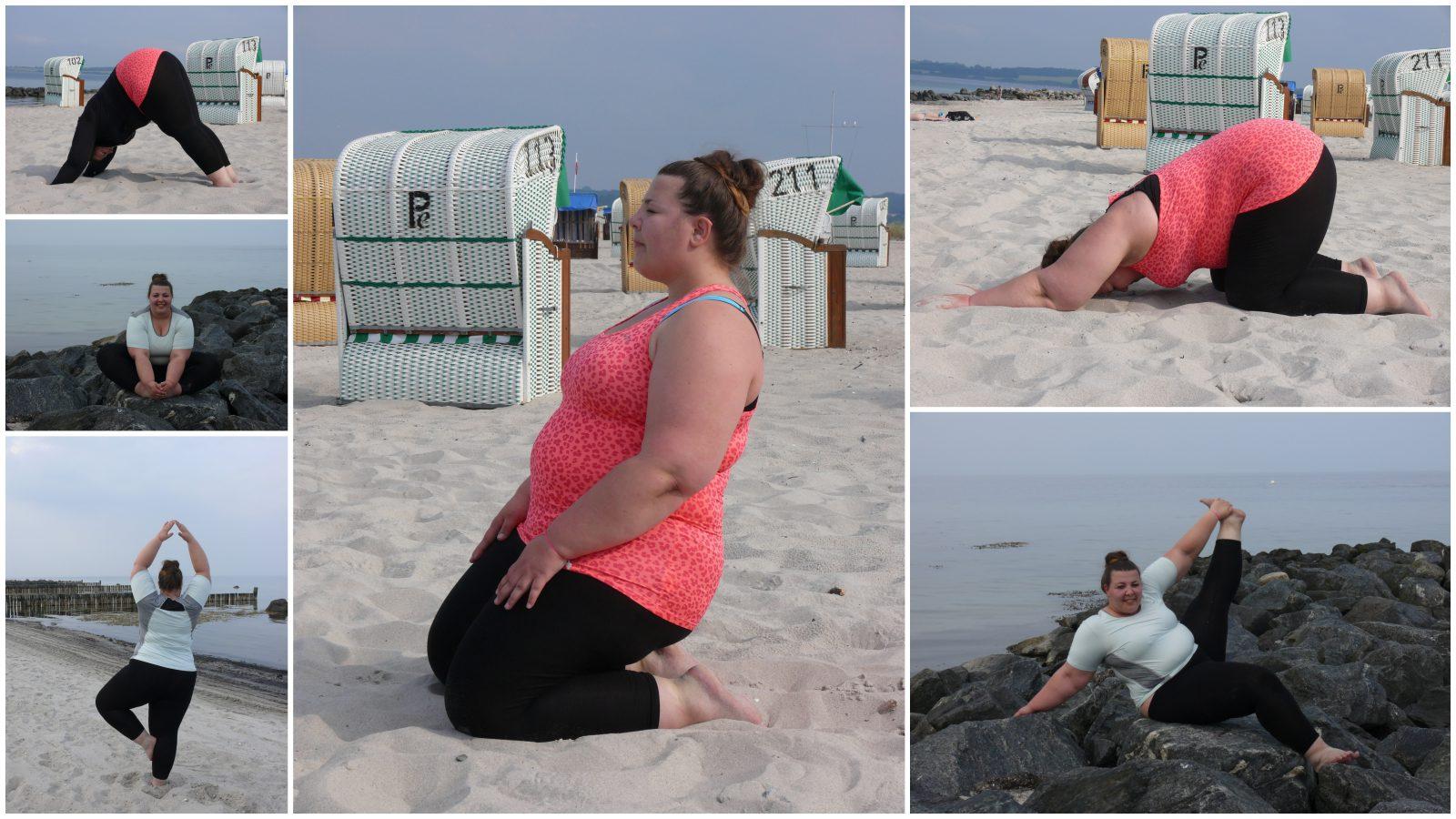 Curvyfit // Yoga am Strand