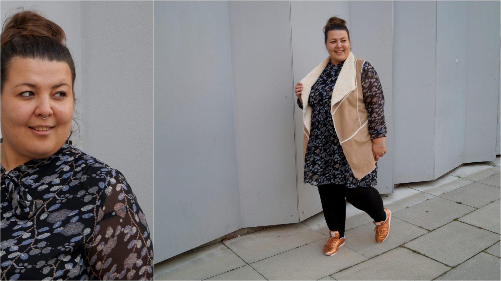 Style // City Chic im Yumi Plus Blumenkleid und MiaModa Fellweste